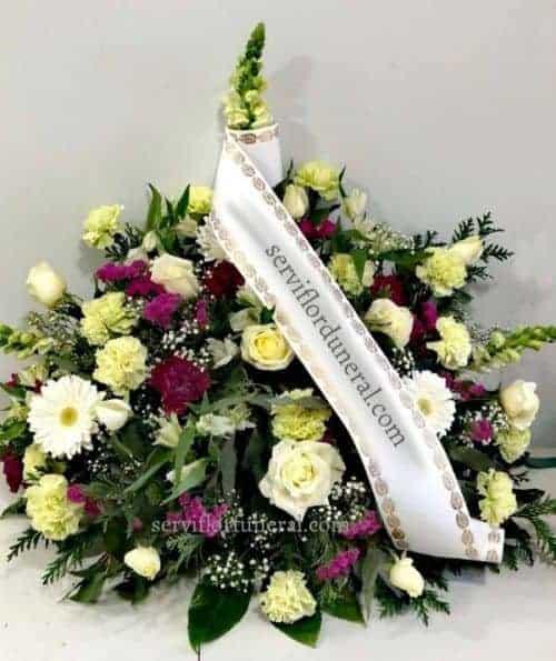 Centro flores funerario Amor Dulce
