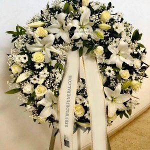 Corona funeraria respeto