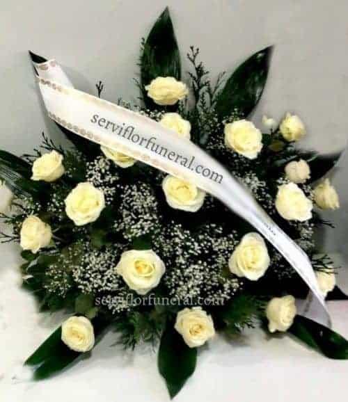 centro funerario te queremos rosas blancas