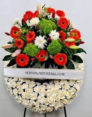Corona de flores para difuntos amistad