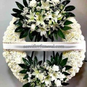 Llevar coronas de flores para funerales a tanatorios
