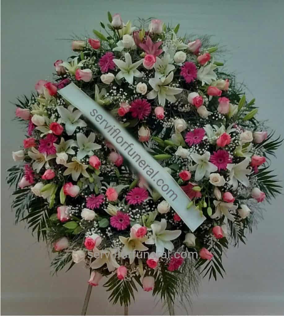 rosas rojas funerales combinadas