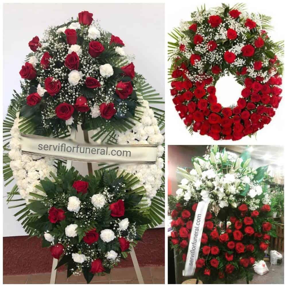 rosas rojas para funerales coronas