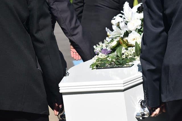lazo de luto flores funeral