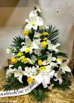 Centro de flores para funeral Luz Eterna