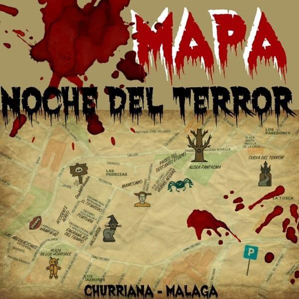 mapa noche del terror en Churriana malaga visita