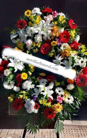 Corona de flores funeraria Luto