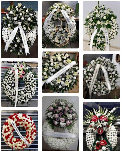 coronas de flores para funerales funerarias