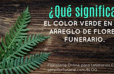el color verde en las flores para funerales