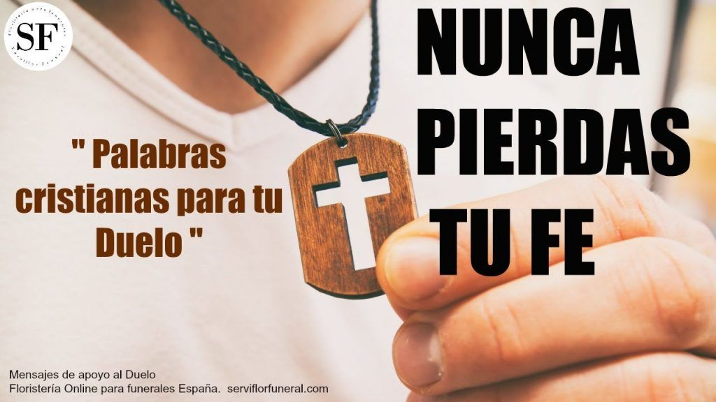 Palabras cristianas ante un fallecimiento