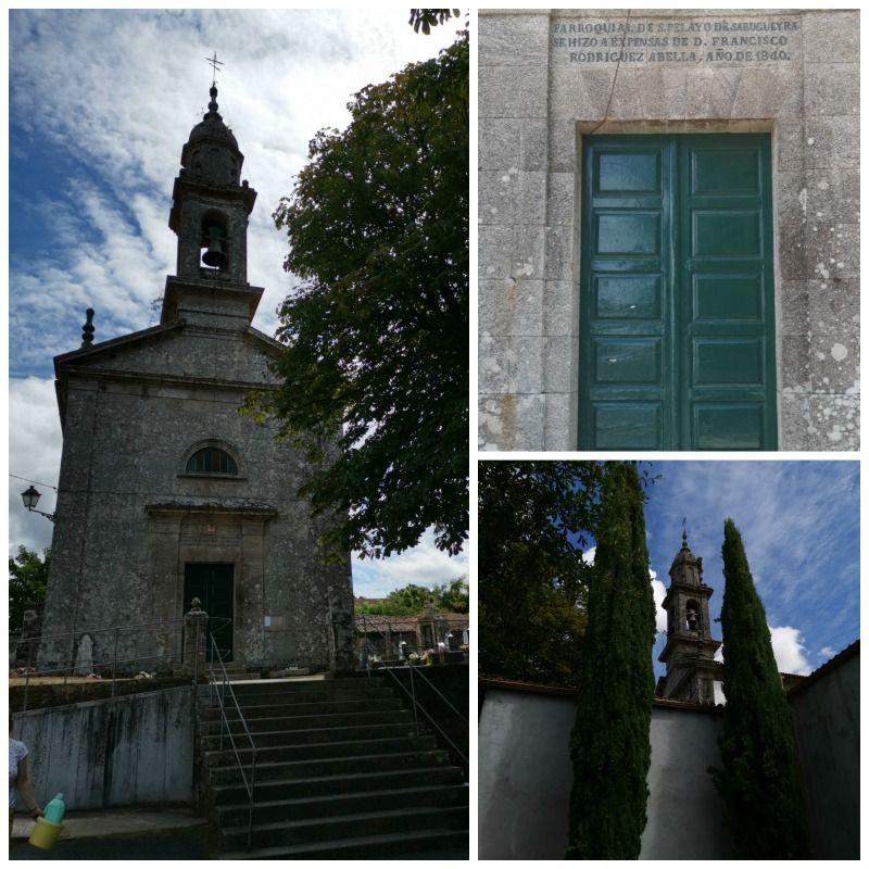 Cementerio de Lavacolla, imágenes y  varias fotografías de la Iglesia de San Pelayo o San Paio en Galicia