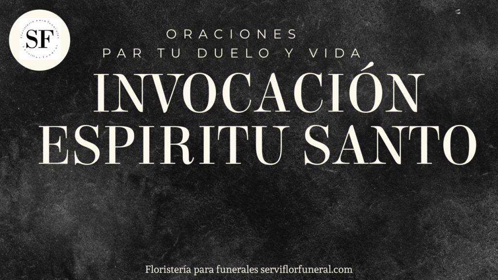 oración al espíritu santo para el duelo
